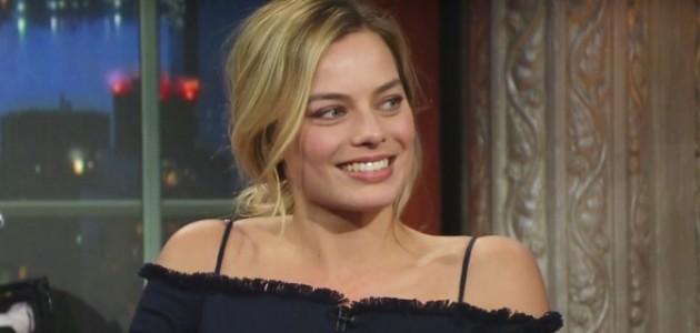"VÍDEO: Margot no programa ""The Late Night with Stephen Colbert"" (+ tradução)"