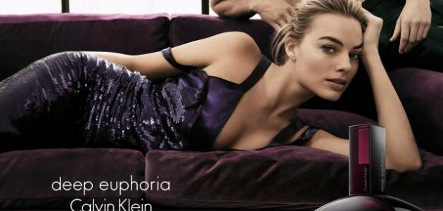Margot é o rosto do perfume Deep Euphoria da Calvin Klein