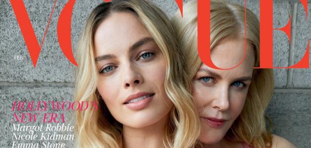 Margot Robbie posa ao lado de Nicole Kidman em capa para a VOGUE UK e W Magazine
