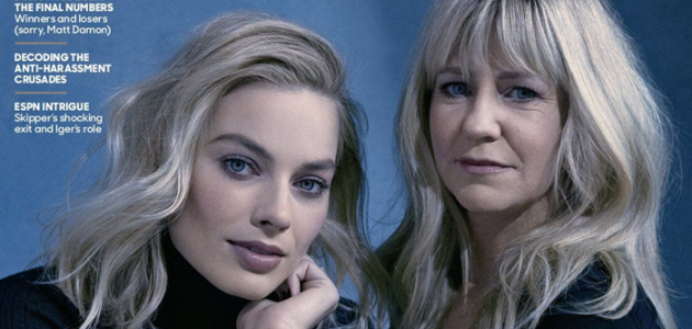 Margot Robbie e Tonya Harding são capa e recheio da revista do site The Hollywood Reporter
